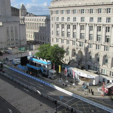 The Tour of Britain (Setting Up) Liverpool 2014