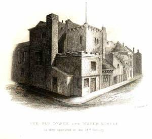 Tower of Liverpool. Home of the Earl of Derby.