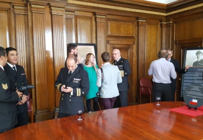 Guests at the plaque ceremony in Cunard Building
