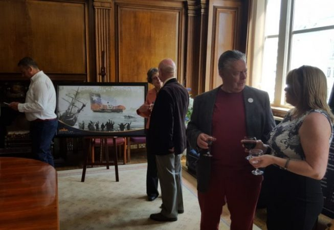 Luis Pardo event  held at the Cunard Building